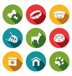 Doggy icons set vector image vector image