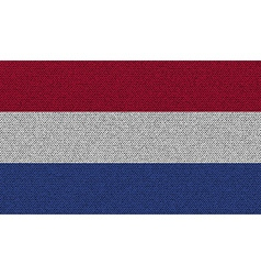 Flags Netherlands on denim texture vector image