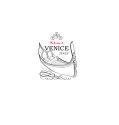 venice city sign tourist venetian transport vector image