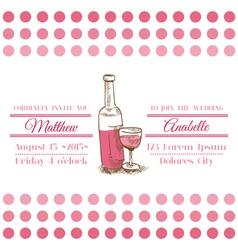 Wedding Vintage Invitation Card - Wine Theme vector image vector image