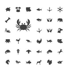 33 animal icons vector