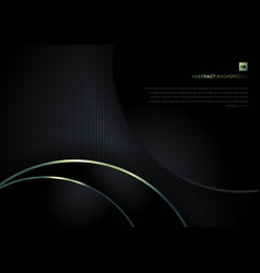 Abstract background black circles and green vector