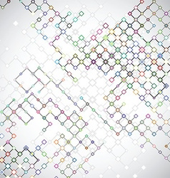 Abstract background with connecting lattices vector
