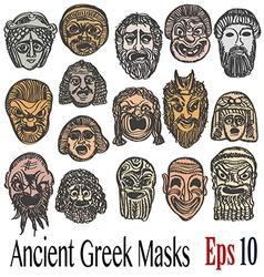 Ancient Greek Masks vector image