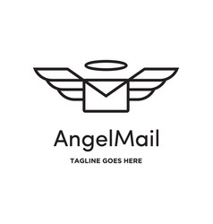 angel mail logo vector image