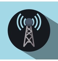 antenna over circle design vector image