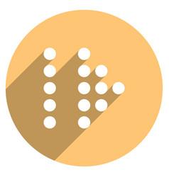 arrow sign led digital display circle icon vector image