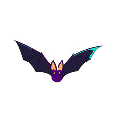 bat is a nocturnal animal a symbol of halloween vector image