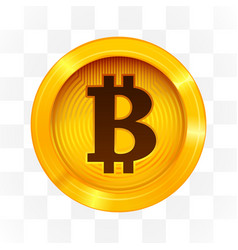 bitcoin cryptocurrency sign on transparent vector image