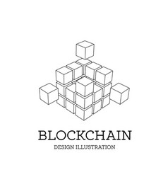 blockchain in the form of vector image