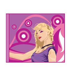 Blonde cartoon vector