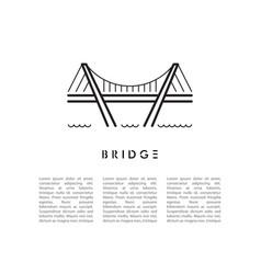 bridge line icon vector image