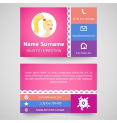 Bright pretty business card set template vector