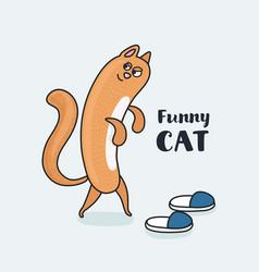 Cartoon cat footwear spoils vector
