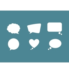 Chat bubble social media vector image