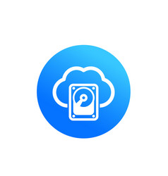 Cloud data storage hosting icon vector