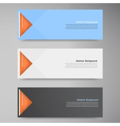 Color banners Curve and paper origami vector