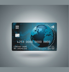 credit card design with shadow detailed abstract vector image