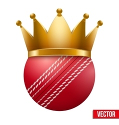 Cricket ball with royal crown vector image