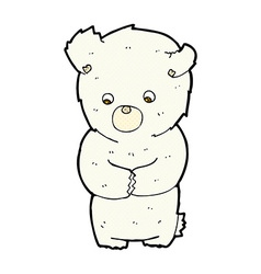 cute comic cartoon polar bear vector image