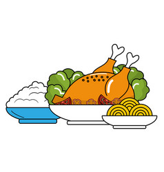 delicious food cartoon vector image