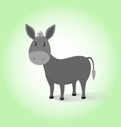 Donkey cartoon drawing vector