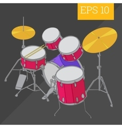 Drum kit isometric vector