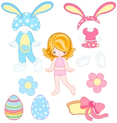 Easter dress up vector