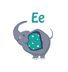Elephant Funny Alphabet Animal vector image