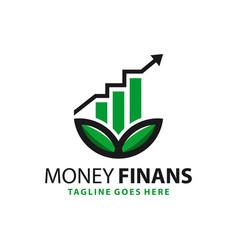 financial natural business logo vector image