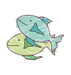 fish animal design vector image