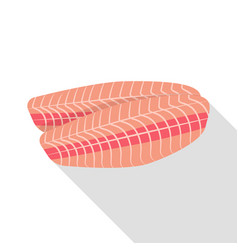 Fish meat icon flat style vector