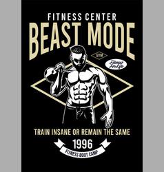 fitness center beast mode vector image