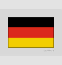 Flag of germany national ensign aspect ratio 2 to vector