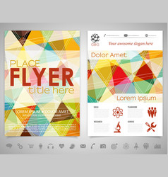 Flyer design template vector