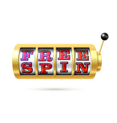 free spin banner online gambling casino games vector image