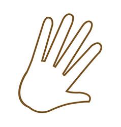 Hand palm human symbol image vector