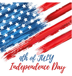happy independence day 4th july vector image