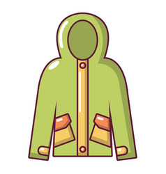 hooded jacket icon cartoon style vector image
