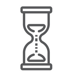 hourglass line icon development and business vector image