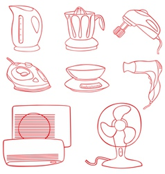 Household kitchen aplliance vector image