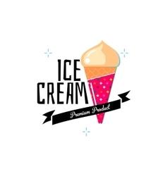 Ice cream modern shop logo vector