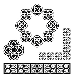 Irish Celtic design - patterns knots and braids vector image