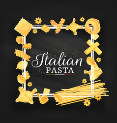 italian cuisine pasta and spaghetti frame vector image