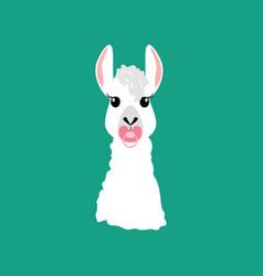 Llama with nipple vector