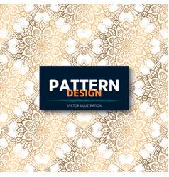 luxury ornamental mandala design background in vector image