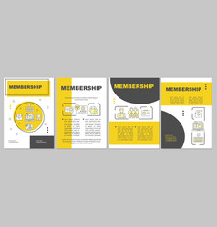 Membership brochure template layout vector