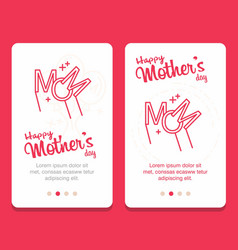 Mothers day greeting card with flowers background vector