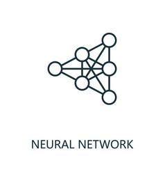 Neural network thin line icon creative simple vector