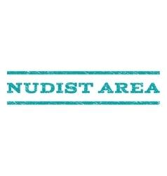 Nudist Area Watermark Stamp vector